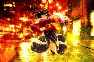 anime ryougi shiki takeuchi takashi type-moon