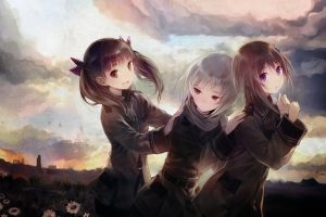 anime sora no woto kannagi noel suminoya kureha anime girls