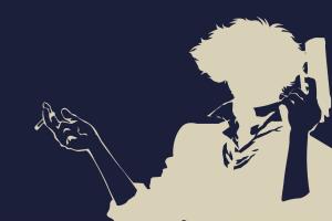 anime spike spiegel anime boys cowboy bebop silhouette