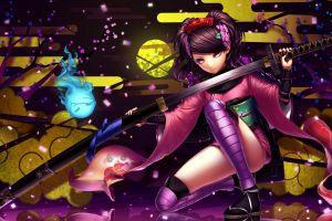 anime sword anime girls katana muramasa
