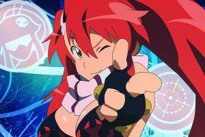 anime tengen toppa gurren lagann redhead anime girls littner yoko