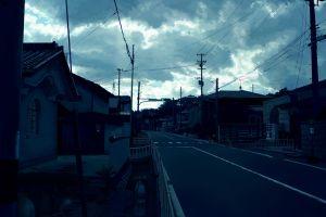 anime urban city street