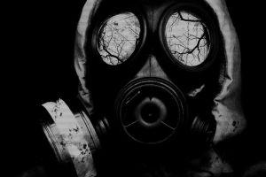 apocalyptic artwork horror gas masks