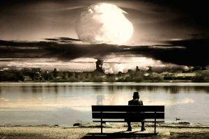 apocalyptic bench artwork atomic bomb explosion