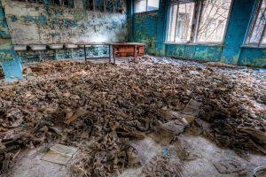 apocalyptic gas masks abandoned chernobyl ruin