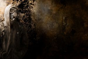 apocalyptic grunge men gas masks