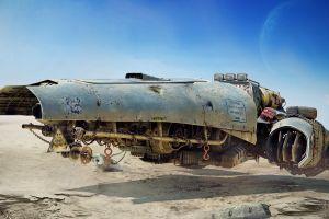 apocalyptic science fiction vehicle render digital art cgi futuristic