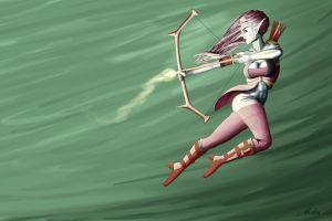 arrows bow fantasy girl fantasy art artwork