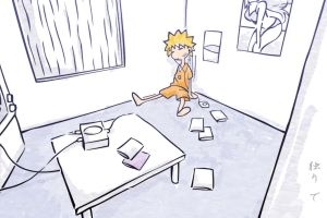 artwork anime simple background room uzumaki naruto