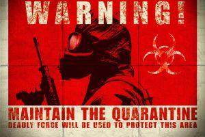 artwork biohazard apocalyptic gas masks