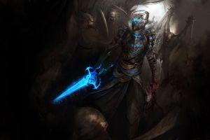 artwork concept art dead space isaac clarke knight medieval warrior video games sword