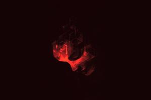 artwork dark abstract minimalism
