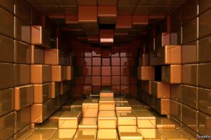 artwork digital art cube