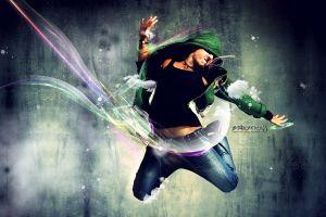artwork digital art dancer shapes men