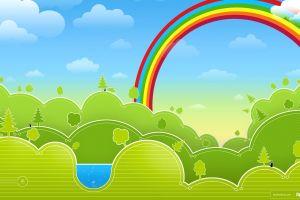 artwork fantasy art colorful rainbows nature digital art
