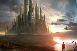 artwork fantasy art futuristic futuristic city