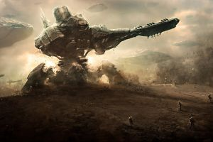 artwork fantasy art science fiction concept art mech robot war soldier