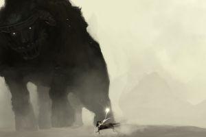 artwork fantasy art shadow of the colossus video games