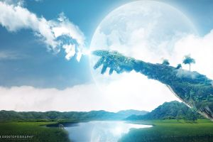 artwork fantasy art space art nature planet digital art desktopography landscape