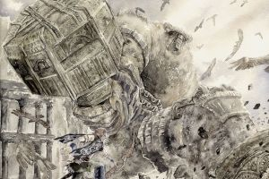 artwork fantasy art wander and the colossus