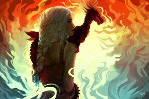 artwork fantasy girl fantasy art game of thrones dragon daenerys targaryen fan art
