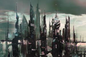 artwork futuristic city city concept art futuristic