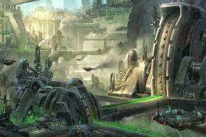 artwork futuristic futuristic city