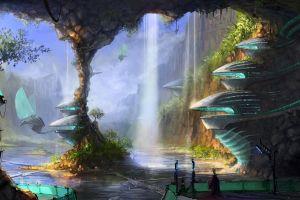 artwork futuristic planet