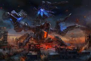 artwork futuristic science fiction