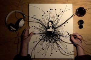 artwork headphones lolita ink