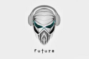 artwork headphones robot minimalism