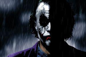artwork heath ledger joker batman