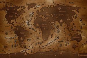 artwork history brown vladstudio map inverted world map