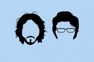 artwork minimalism flight of the conchords moustache