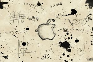artwork monochrome paint splatter apple inc. graffiti