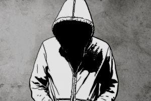 artwork monochrome simple background hoods