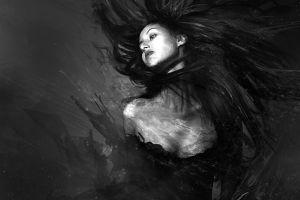 artwork monochrome women