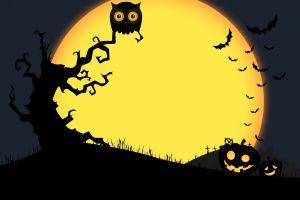 artwork moon halloween