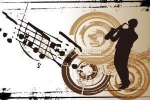 artwork music silhouette saxophones