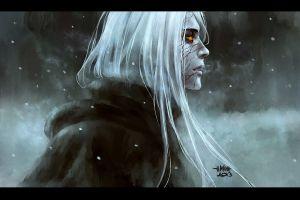 artwork nanfe  white hair