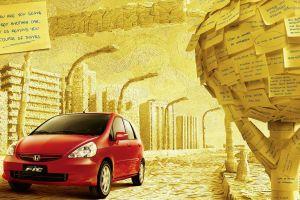 artwork red cars car vehicle