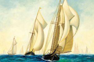 artwork sailing ship painting