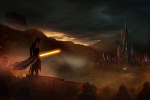 artwork sith digital art lightsaber star wars science fiction