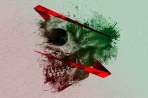 artwork skull red
