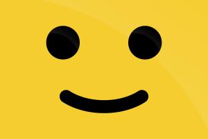 artwork smiley yellow minimalism