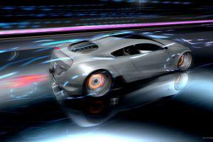 artwork vehicle digital art silver cars car
