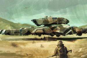 artwork vehicle futuristic science fiction