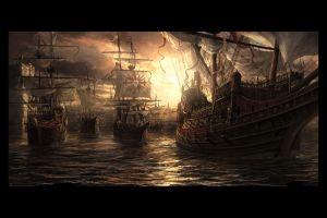 artwork vehicle sailing ship fantasy art ship