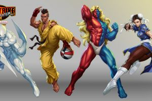 artwork video games chun-li street fighter