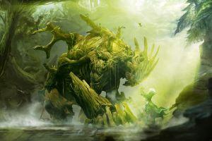 artwork video games watermarked sylvari fantasy art nature creature guild wars 2